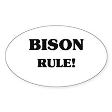 Bison Rule Oval Decal