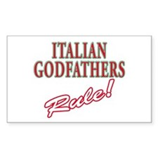 Italian Godfathers Rectangle Decal