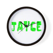 Jayce Faded (Green) Wall Clock