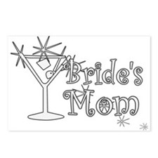 White C Martini Bride's Mom Postcards (Package of