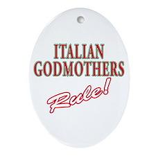 Italian Godmothers Rule Oval Ornament