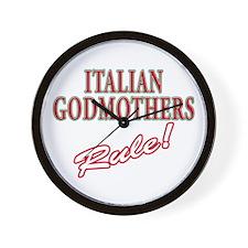 Italian Godmothers Rule Wall Clock