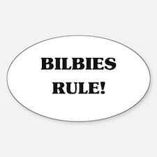 Bilbies Rule Oval Decal