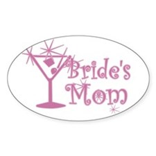 Pink C Martini Bride's Mom Oval Decal