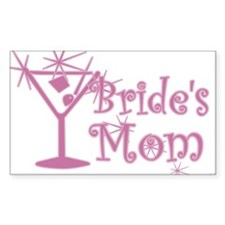 Pink C Martini Bride's Mom Rectangle Decal