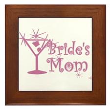 Pink C Martini Bride's Mom Framed Tile