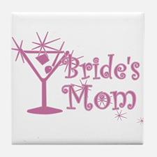 Pink C Martini Bride's Mom Tile Coaster