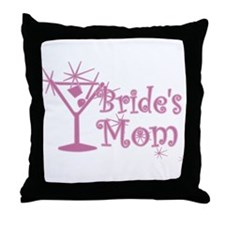 Pink C Martini Bride's Mom Throw Pillow