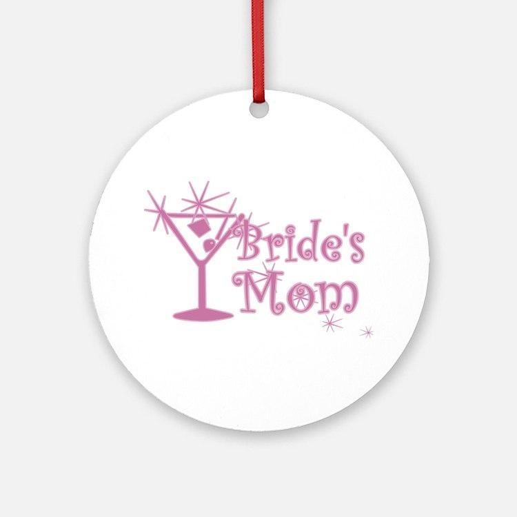 Pink C Martini Bride's Mom Ornament (Round)