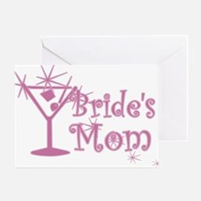Pink C Martini Bride's Mom Greeting Card