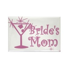 Pink C Martini Bride's Mom Rectangle Magnet