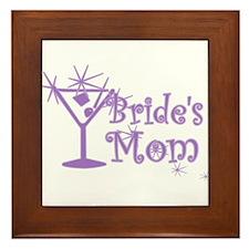 Purple C Martini Bride's Mom Framed Tile