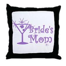 Purple C Martini Bride's Mom Throw Pillow