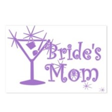 Purple C Martini Bride's Mom Postcards (Package of