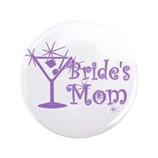 """Purple C Martini Bride's Mom 3.5"""" Button"""