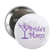 """Purple C Martini Bride's Mom 2.25"""" Button"""
