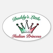 daddy's little Italian Prince Oval Decal
