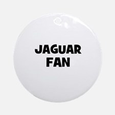 Jaguar Fan Ornament (Round)