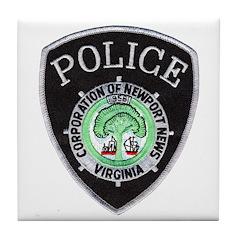 Newport News Police Tile Coaster