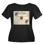 Bill of Rights Women's Plus Size Scoop Neck Dark T