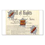 Bill of Rights Rectangle Sticker 10 pk)