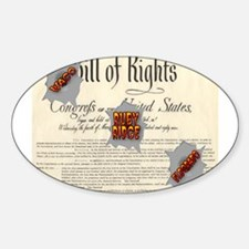 Bill of Rights Oval Decal