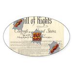 Bill of Rights Oval Sticker (50 pk)