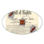 Bill of Rights Oval Sticker (10 pk)