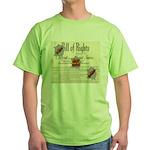 Bill of Rights Green T-Shirt
