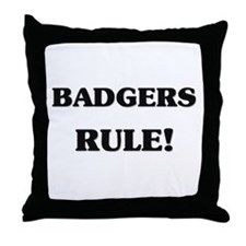 Badgers Rule Throw Pillow