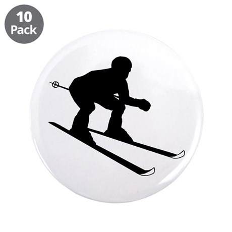 "SKIER 3.5"" Button (10 pack)"