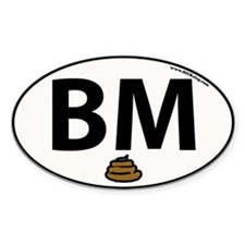 BM Oval Decal