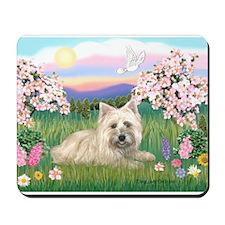 Blossoms/Cairn Terrier Mousepad