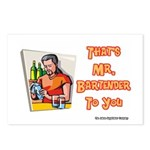 That's Mr. Bartender To You Postcards (Package of