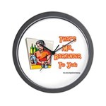 That's Mr. Bartender To You Wall Clock