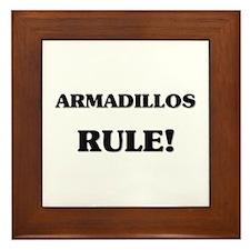 Armadillos Rule Framed Tile