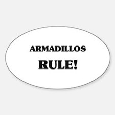 Armadillos Rule Oval Decal