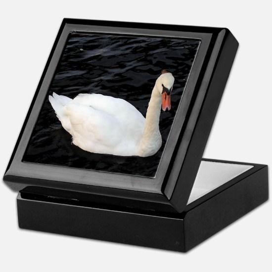 White Swan Keepsake Box