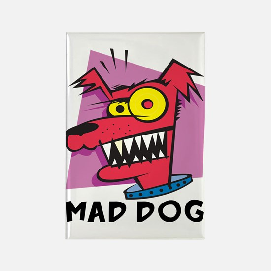 Mad Dog Rectangle Magnet