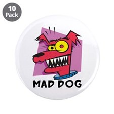 """Mad Dog 3.5"""" Button (10 pack)"""