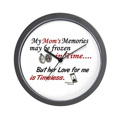 Timeless 1 Alzheimer's (Mom) Wall Clock