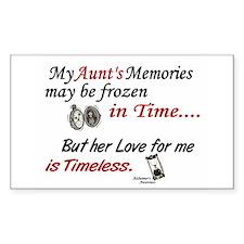 Timeless 1 Alzheimer's (Aunt) Rectangle Decal