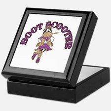 Boot Scooter Cowgirl Keepsake Box