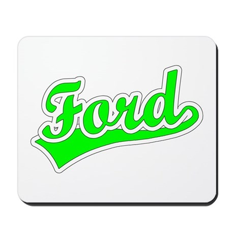 Retro Ford (Green) Mousepad
