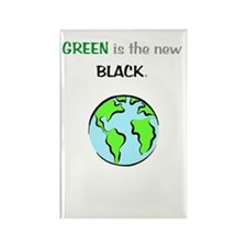 Green Is New Black Rectangle Magnet (10 pack)