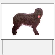 Briard Berger Dog Yard Sign