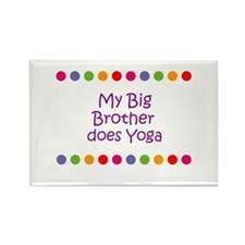My Big Brother does Yoga Rectangle Magnet