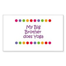 My Big Brother does Yoga Rectangle Decal