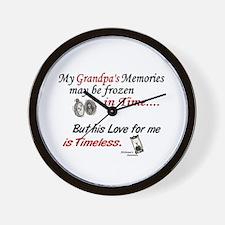 Timeless 1 Alzheimer's (Grandpa) Wall Clock