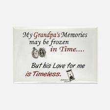 Timeless 1 Alzheimer's (Grandpa) Rectangle Magnet